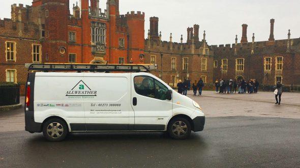 hampton court palace asbestos removal
